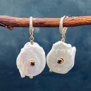 Anthropologie pearl earrings June Birthstone